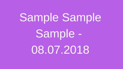 Protected: Sample Sample Sample